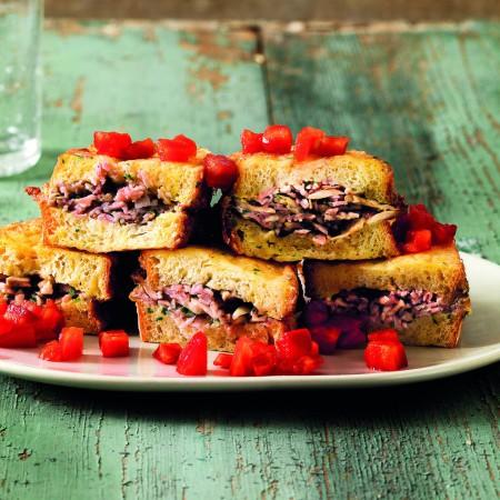 Grilled Prosciutto Porcini Sandwiches