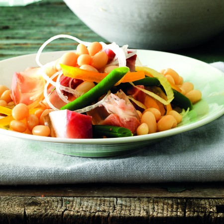Nervetti Salad with Peppers and Tuscan Beans