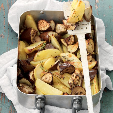 Potato and Eggplant Roast with Thyme