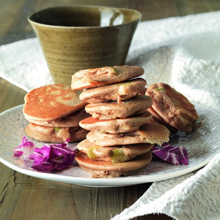 Chestnut and Apple Pancakes with Radicchio