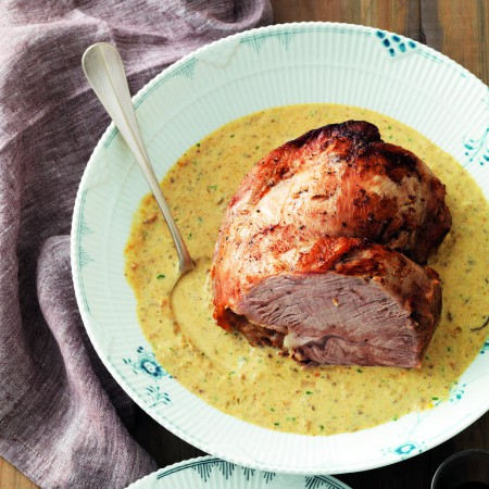 Veal Roast with Mushroom Mascarpone