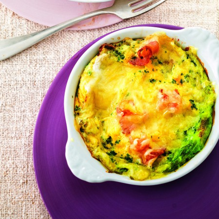 Eggs, Pancetta, and Cheese in Cabbage Leaves