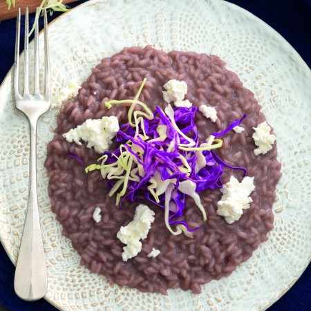 Risotto with Bonarda and Orange-Scented Cabbage