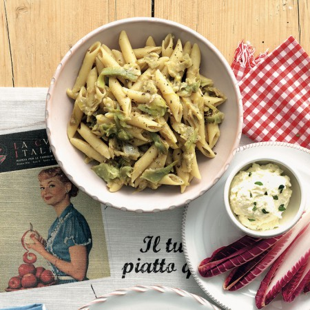 Creamy Penne with Artichokes