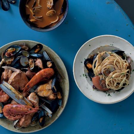 Seafood Spaghetti Soup