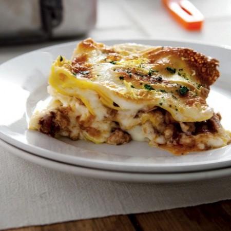 Saffron Lasagna with Ossobuco Ragù