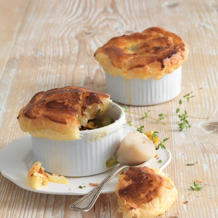 Scallops and Vegetables with Puff Pastry