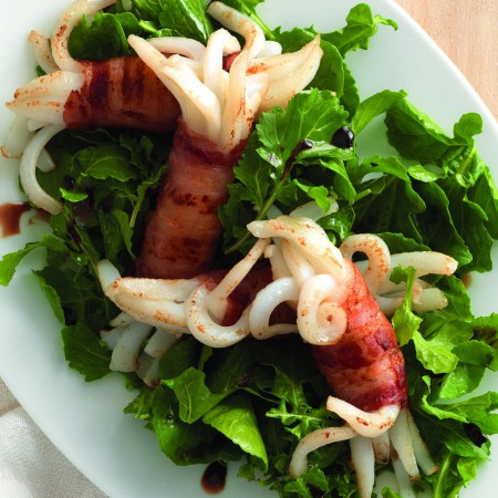 Bacon-Wrapped Squid