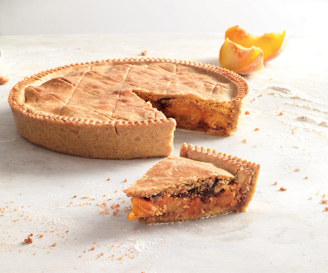 Peach and Amaretti Pie