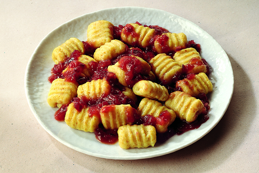 Potato and Bread Gnocchi With Onion Jam