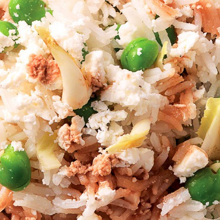 Rice Salad with Fava Beans, Endive and Quartirolo Cheese