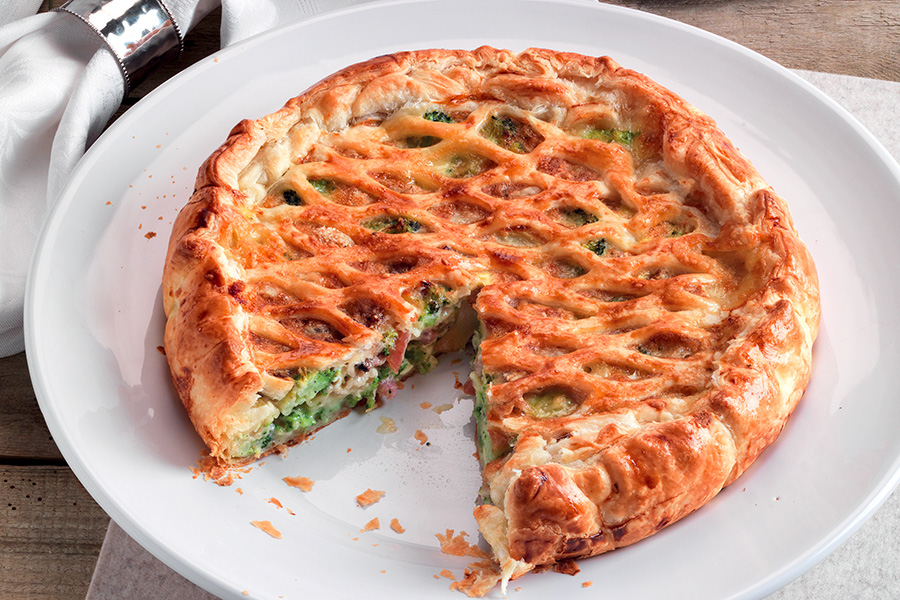 Savory Tart with Broccoli, Guanciale and Camembert
