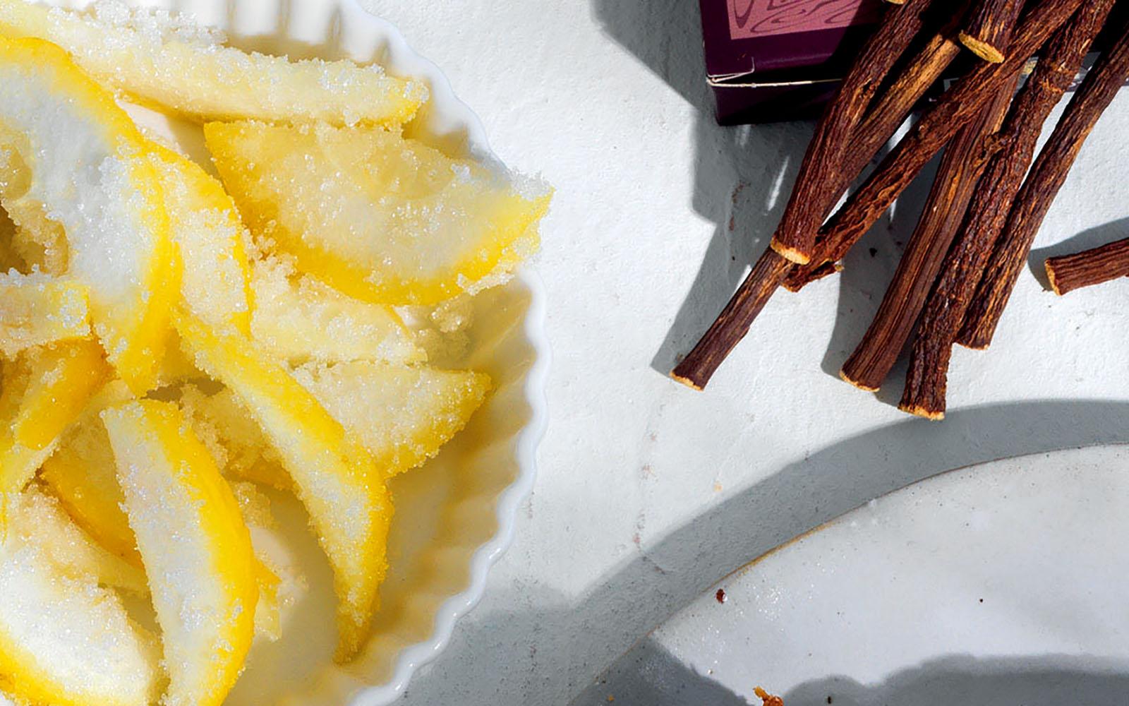 Frozen Sugared Citron Peel