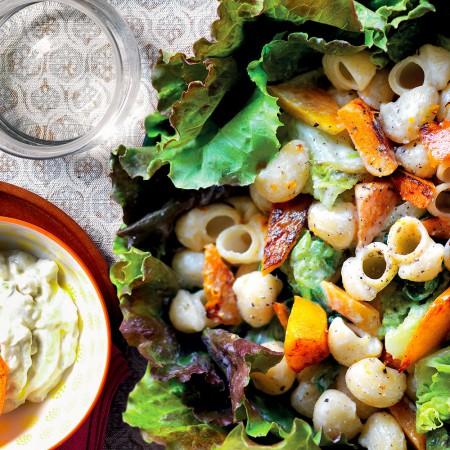 Pasta and Squash with Gorgonzola Sauce