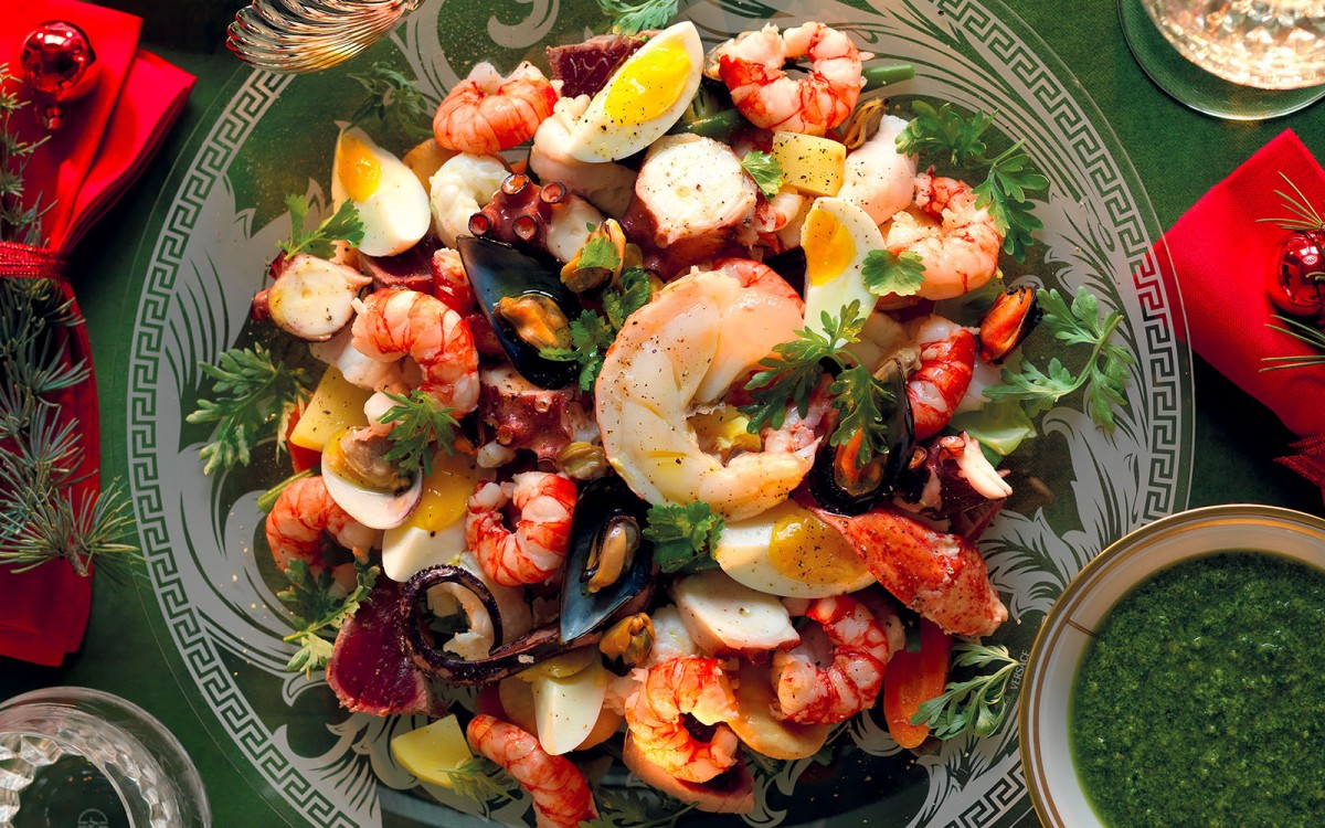 Seafood Christmas Appetizer