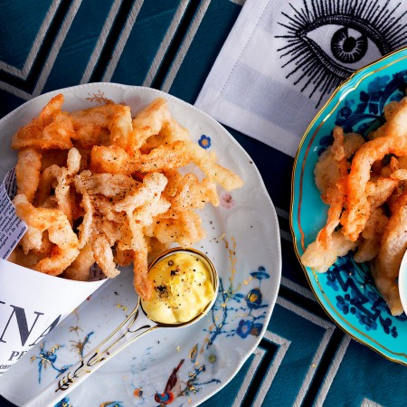 Fried Tripe with Pepper Mayonnaise