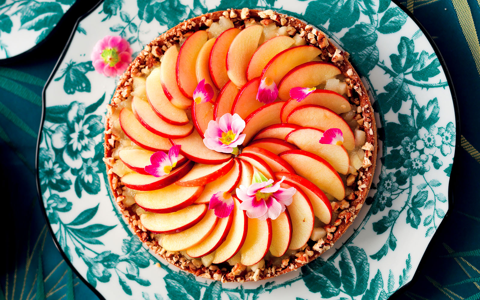 Pecan Frangipane Tart With Caramelized Apples