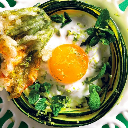Marinated Eggs in Vegetable Nests