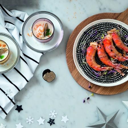 Crispy Shrimp and Lardo Tostadas