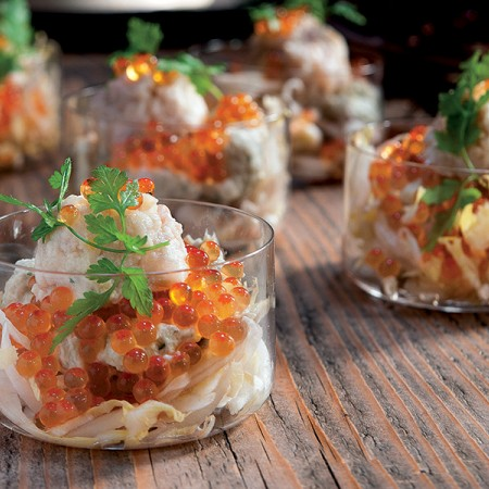 Artichoke Mousse with Trout Tartare