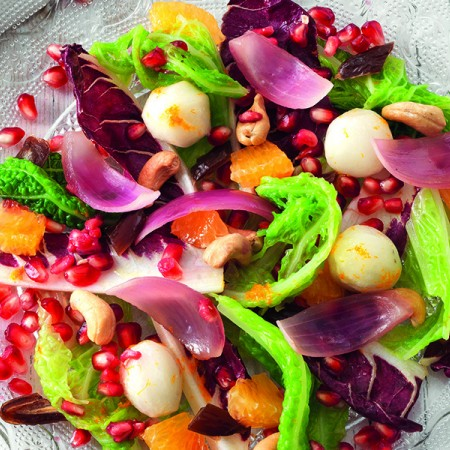 Colorful Fruit and Veggie Salad