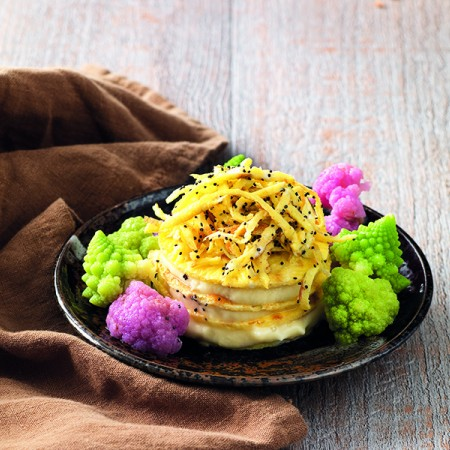 """Omelet Mille-Feuille with Cabbage """"Mayonnaise"""""""