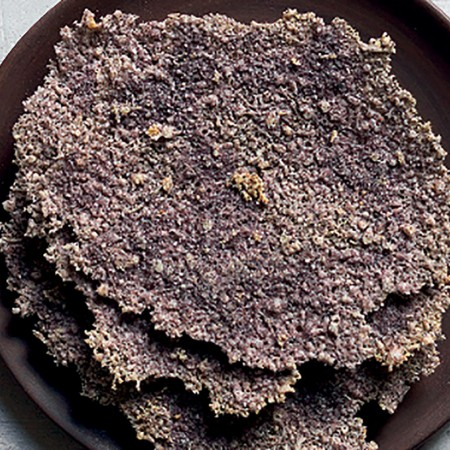 Black Pecorino Cheese Wafers