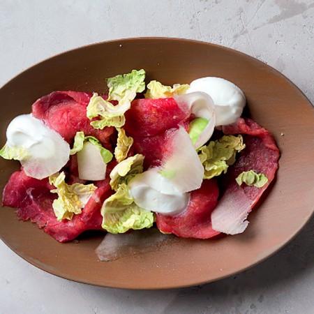 Beef Carpaccio with Greek Yogurt