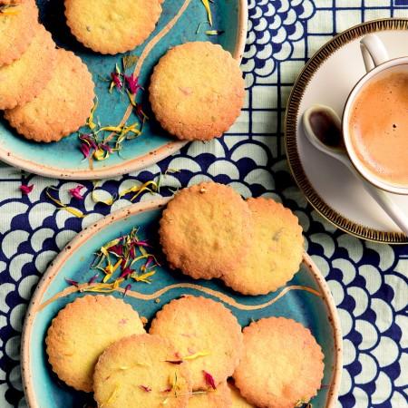 Quinoa and Flower Petal Cookies